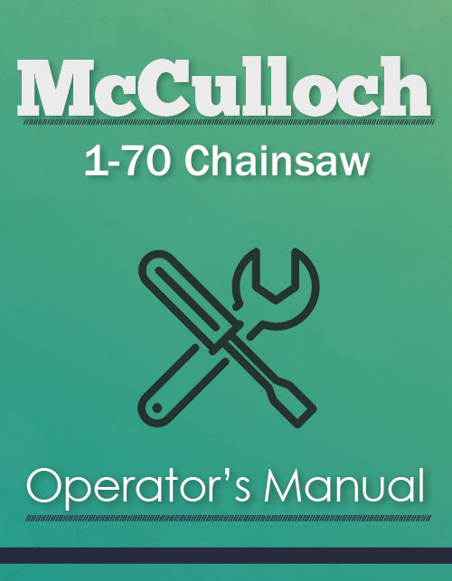 McCulloch 1-70 Chainsaw Manual Cover