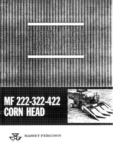 Massey Ferguson 222, 322, and 422 Corn Heads Manual