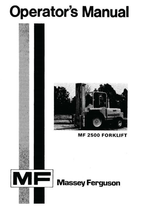 Massey Ferguson 2500 Forklift Manual