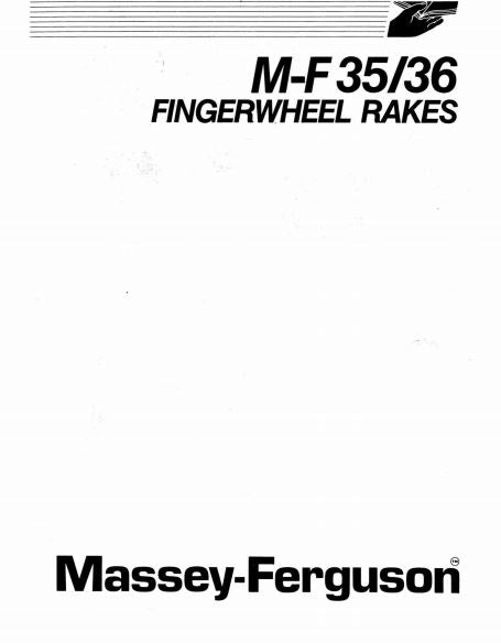 Massey Ferguson 35 and 36 Hay Rake Manual