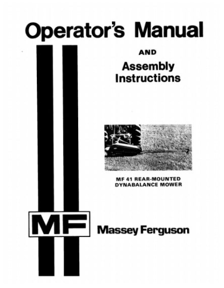 Massey Ferguson 41 Mower Manual