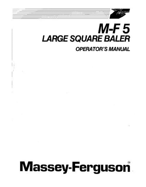 Massey Ferguson 5 Large Baler Manual