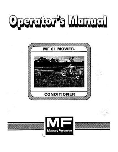 Massey Ferguson 61 Mower Conditioner Manual