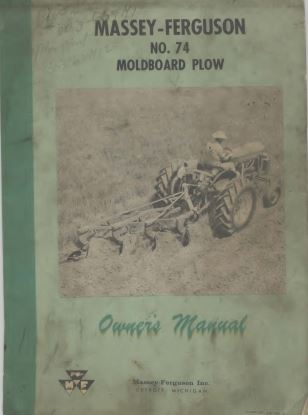 Massey Ferguson Model 74 Moldboard Plow Manual