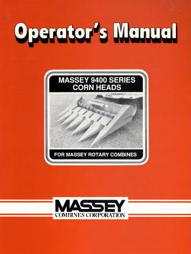 Massey Ferguson 9400 Series Corn Heads Manual