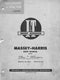 Massey-Harris 21 (Colt), 23 (Mustang), 33, 44 Special, and 55 Tractors - Service Manual