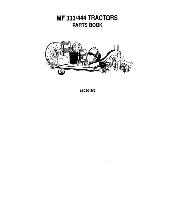 Massey-Harris 333 and 444 Tractor - Parts Manual