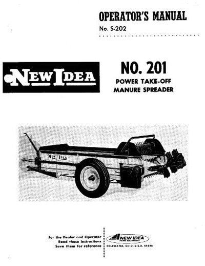 New Idea 201 Manure Spreader Manual