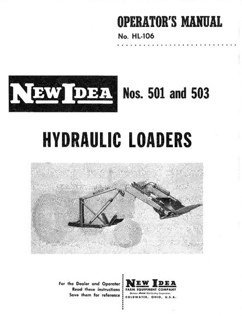 New Idea 501 and 503 Tractor Loader Manual
