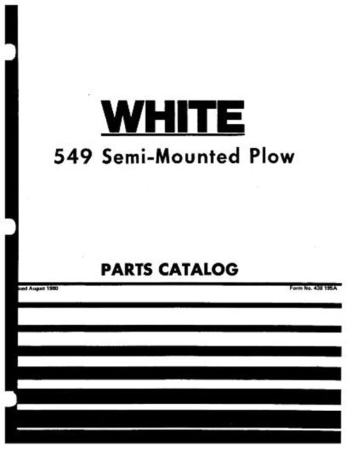New Idea 549 Moldboard Plow - Parts Manual