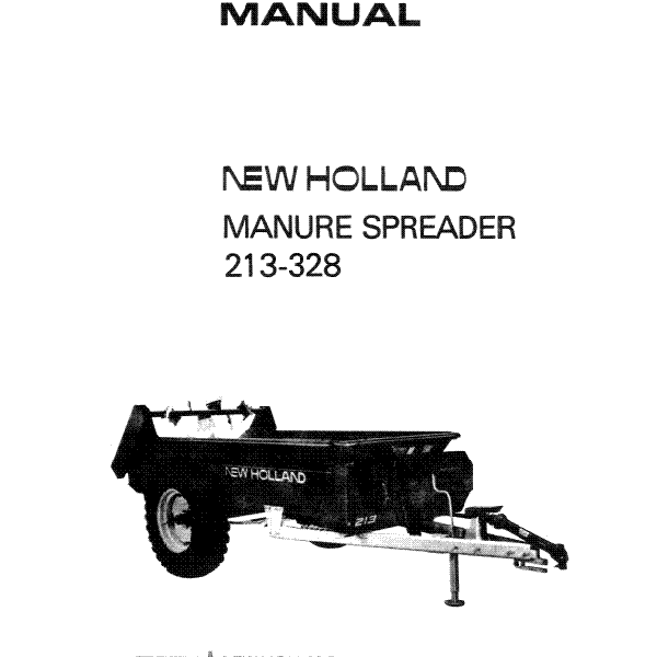 New Holland 210 325 Manure Spreader Operator/'s Manual WPNH