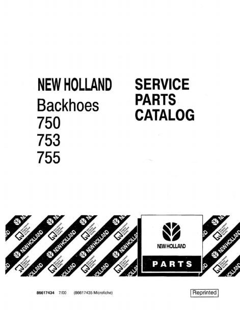 Ford 750, 753 and 755 Backhoe - Parts Catalog