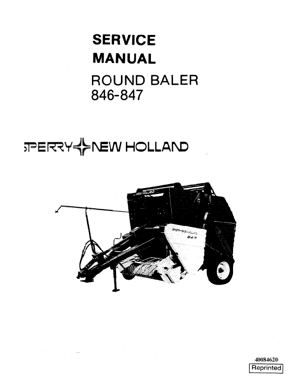 New Holland 846 And 847 Round Baler Service Manual Farm Manuals Fast