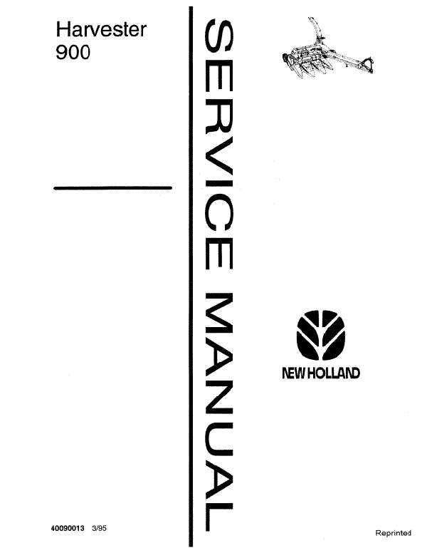 New Holland 900 Harvester - Service Manual