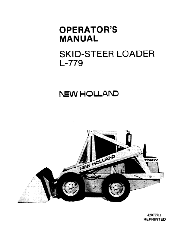 New Holland L-779 Skid Steer Manual