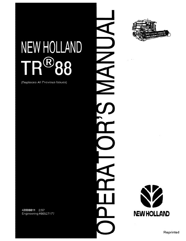 New Holland TR88 Combine Manual