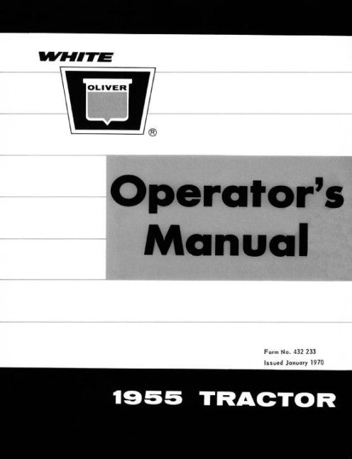 Oliver 1955 Tractor Manual