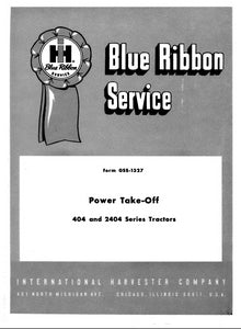 International 404 and 2404 Series Power Take-Off - Service Manual