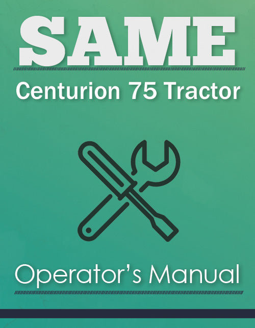 SAME Centurion 75 Tractor Manual Cover