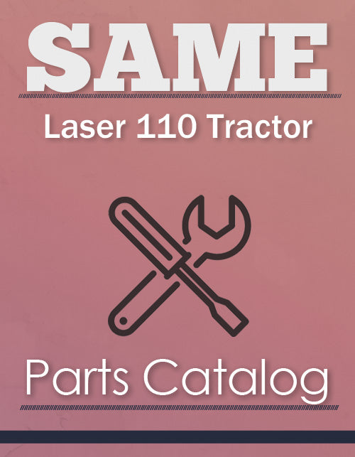 SAME Laser 110 Tractor - Parts Catalog Cover