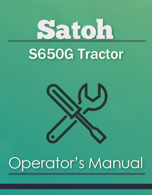 Satoh S650G Tractor Manual Cover