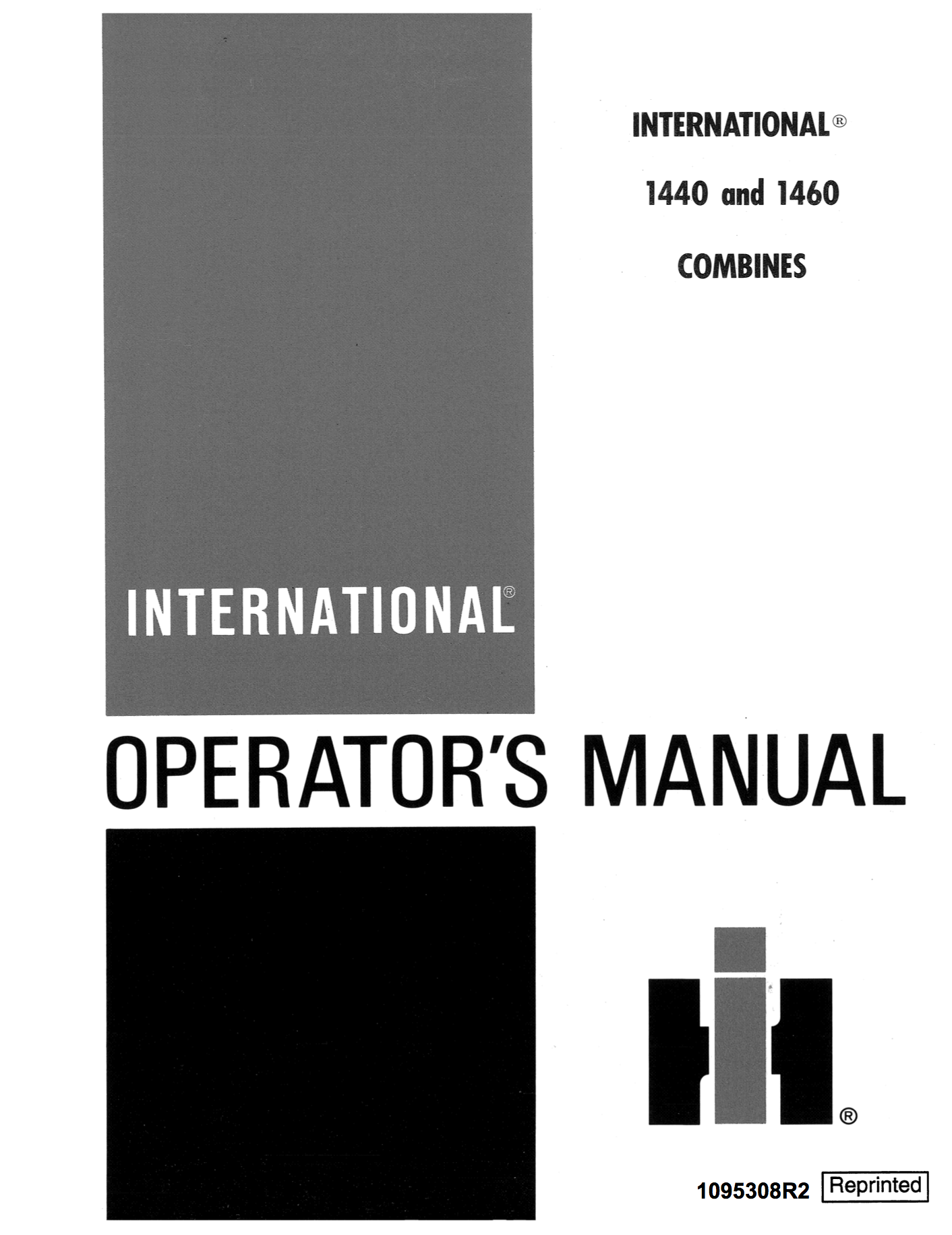 Additional pictures of the International 1440, 1460, and 1480 Combines  Manual.