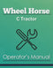 Wheel Horse C Tractor Manual Cover