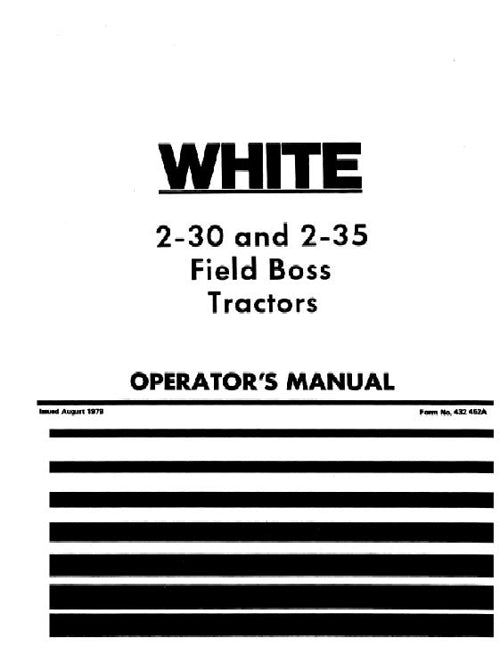 White 2-30 and 2-35 Tractor Manual
