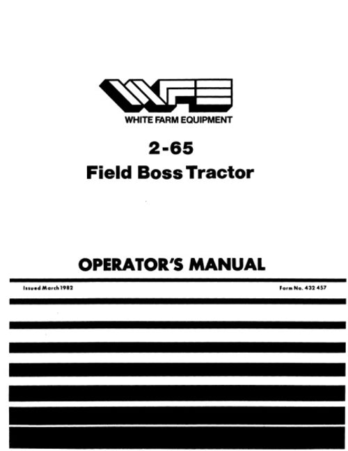 White 2-65 Tractor Manual