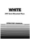 New Idea/ White 549 Moldboard Plow Manual