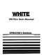 White 598 Moldboard Plow Manual
