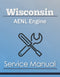 Wisconsin AENL Engine - Service Manual Cover