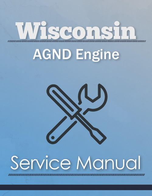 Wisconsin AGND Engine - Service Manual Cover