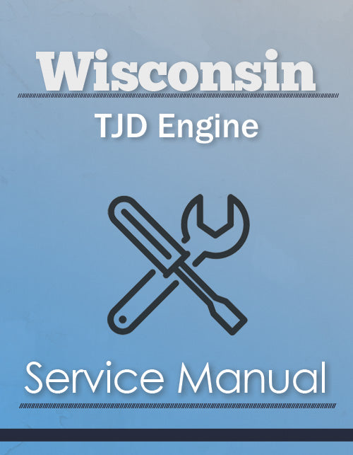 Wisconsin TJD Engine - Service Manual Cover