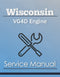 Wisconsin VG4D Engine - Service Manual Cover
