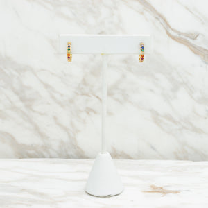 Golden Rainbow hoops - Kalta Joyeria