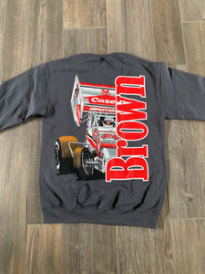 2021 Coming Thru Charcoal CREW Neck Sweatshirt