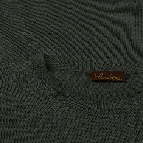 Crew Neck w/patch Grønn