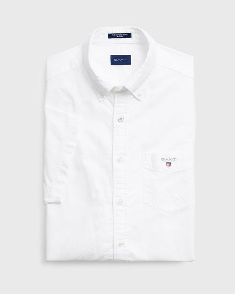 The Oxford Shirt Reg SS Hvit