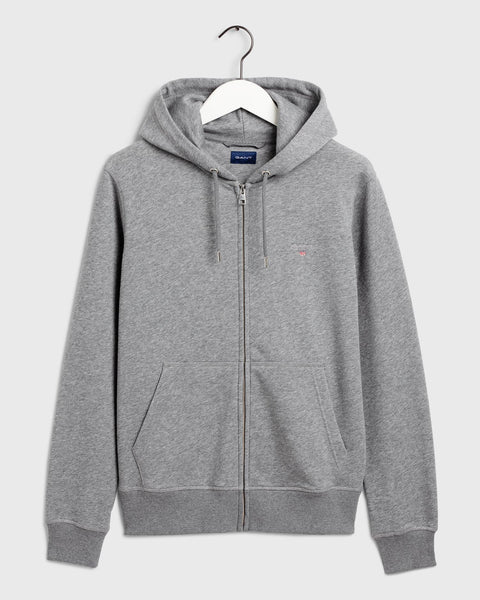 The Original Full Zip Hoodie Grå