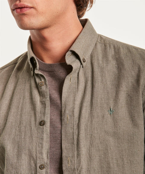 Nelson Button Down Shirt Oliven
