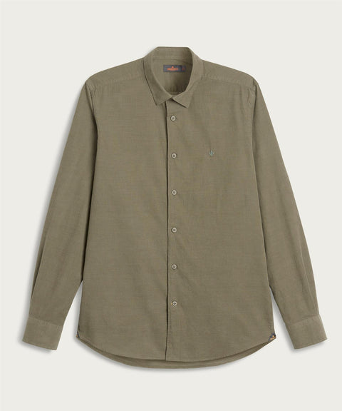 Cedrik Button Under Shirt Oliven