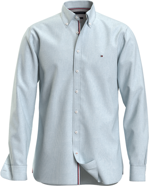 Slim co/li puppytooth shirt Lyseblå