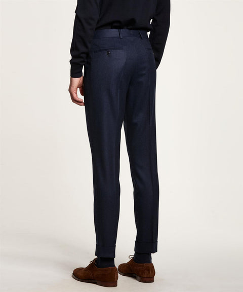 Fred Plain Flannel Trouser Mørkeblå