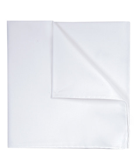 Hanky cotton white twill Hvit