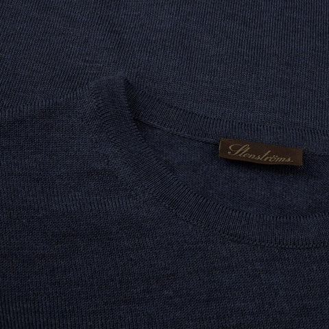 Crew Neck w/patch Blå