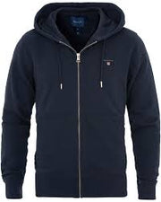 The Original Full Zip Hoodie Mørkeblå