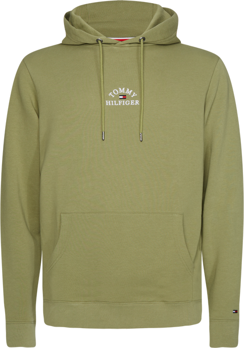Basic embroidered hoody Oliven