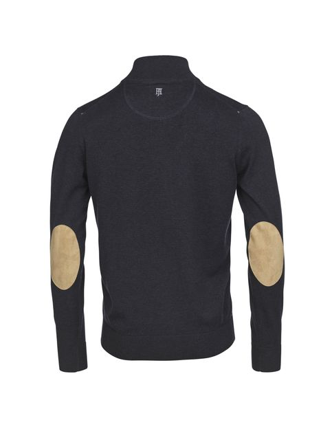 Full zip flat knit Marine