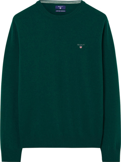 Superfine Lambswool Crew Grønn